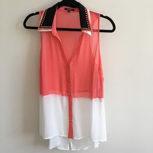 Never Worn XoXo sheer tank top
